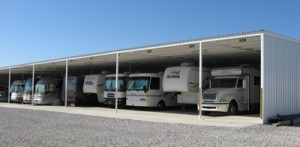 Covered RV Storage Spaces