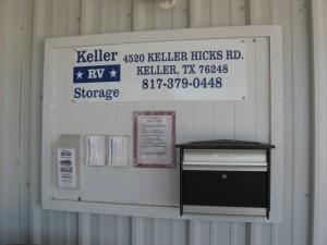 Keller RV Information Center and Drop Box